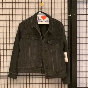 NWT Old Navy black Jean Jacket